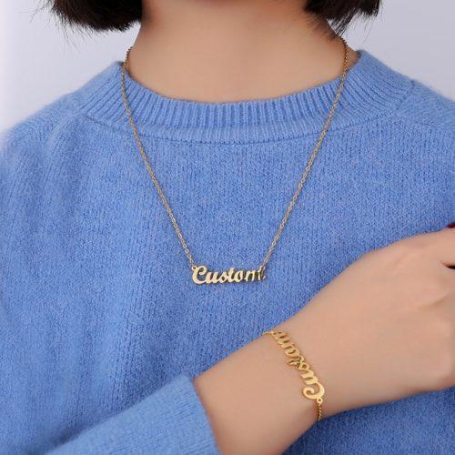 Custom Name Necklace & Bracelet
